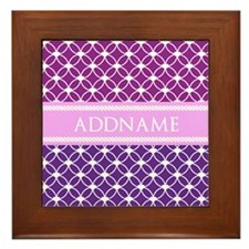 Personalized Purple Violet Eternity Li Framed Tile