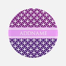 "Personalized Purple Violet 3.5"" Button (100 pack)"