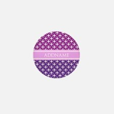 Personalized Purple Violet Eternity Li Mini Button