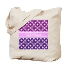 Personalized Purple Violet Eternity Links Tote Bag