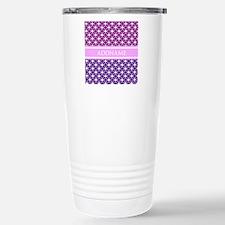 Personalized Purple Vio Stainless Steel Travel Mug