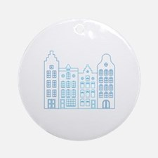 Town row houses Ornament (Round)