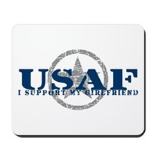 I Support My Girlfriend - Air Force Mousepad