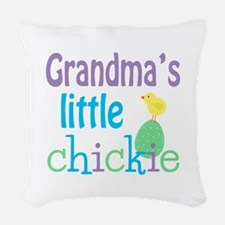 Grandma's Little Chickie Woven Throw Pillow