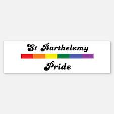 St Barthelemy pride Bumper Bumper Bumper Sticker