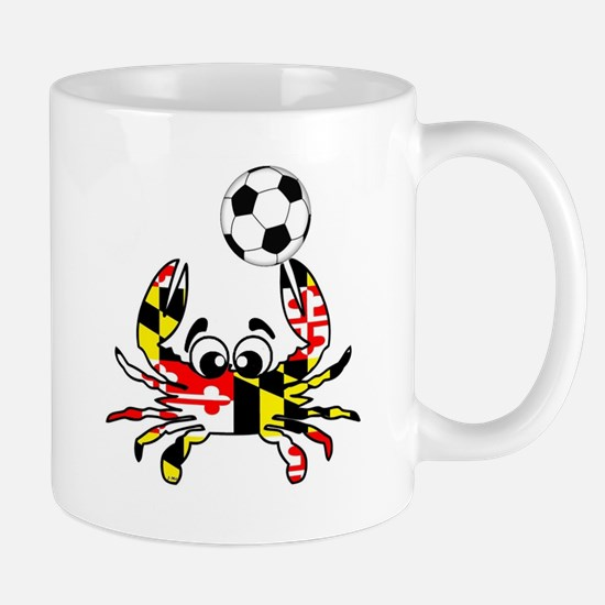 Maryland Crab With Soccer Ball Mugs