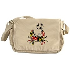 Maryland Crab With Soccer Ball Messenger Bag