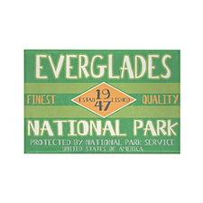 Everglades National Park (Retro) Rectangle Magnet