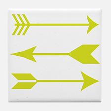 Chartreuse Arrows Tile Coaster