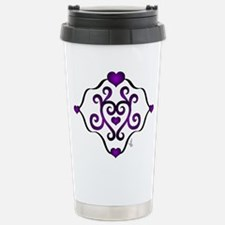 TShirtPurpleHeartDesign Thermos Mug