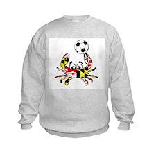 Maryland Crab With Soccer Ball Sweatshirt