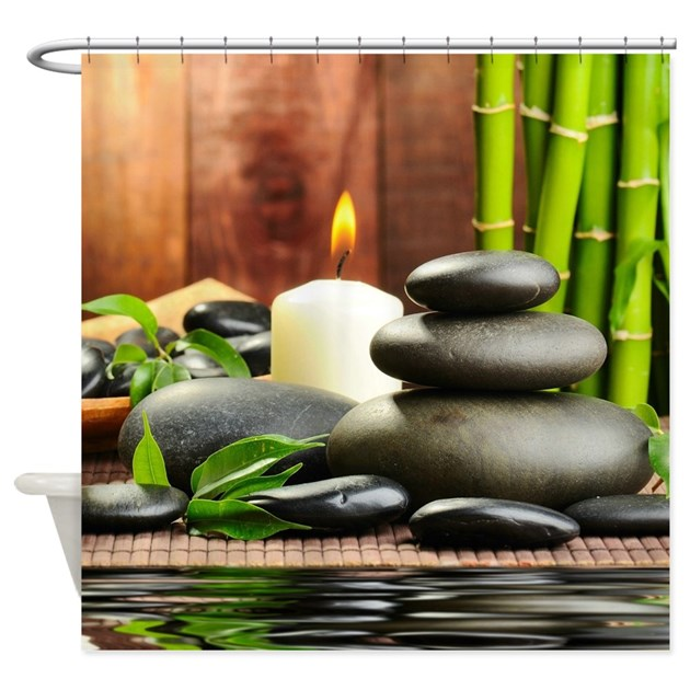 zen display shower curtain by coolbedding
