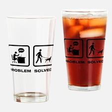 Irish Red and White Setter Drinking Glass