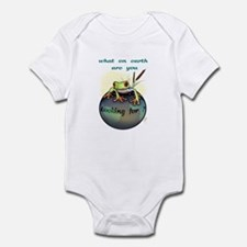 """""""What on earth...(1)"""" Infant Bodysuit"""