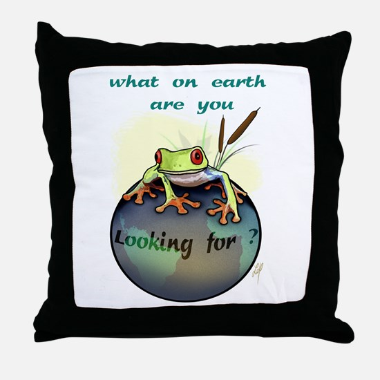"""""""What on earth...(1)"""" Throw Pillow"""