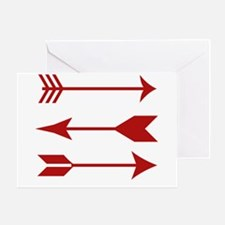 Maroon Arrows Greeting Cards