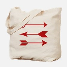 Maroon Arrows Tote Bag