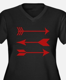 Maroon Arrows Plus Size T-Shirt