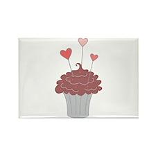 Valentine Cupcake Magnets