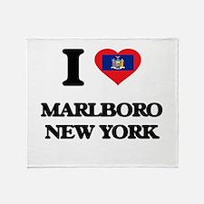 I love Marlboro New York Throw Blanket