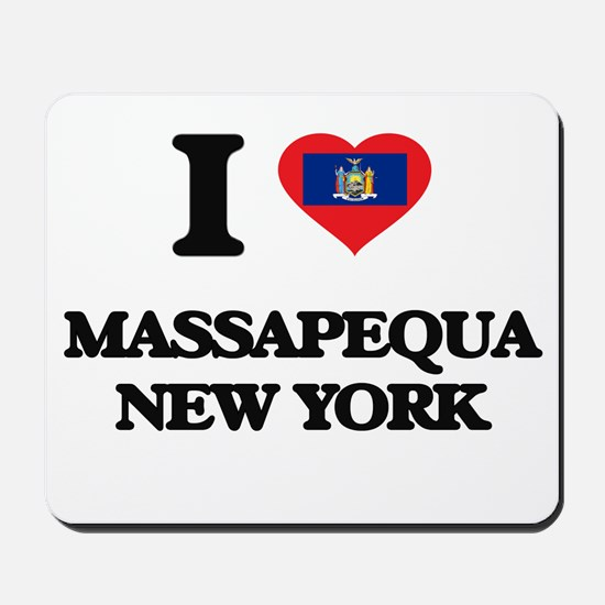 I love Massapequa New York Mousepad