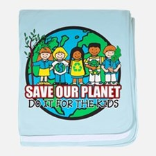 Save Our Planet baby blanket
