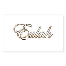 Gold Eulah Decal