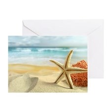 Starfish on Beach Greeting Card