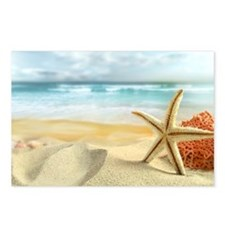 Starfish on Beach Postcards (Package of 8)