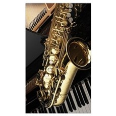 Saxophone And Piano  Poster