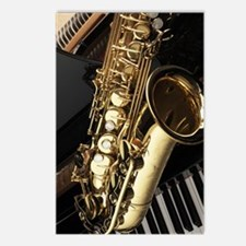 Saxophone And Piano  Postcards (Package of 8)