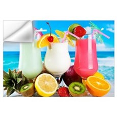Exotic Summer Cocktails Wall Decal