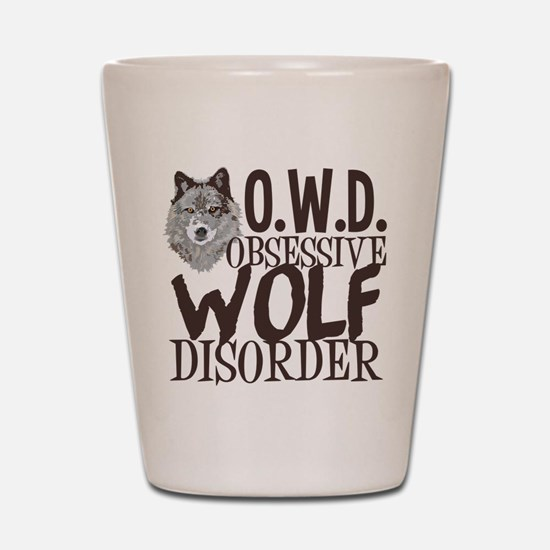 Funny Wolf Shot Glass
