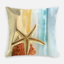 Starfish on Beach Everyday Pillow