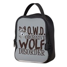 Funny Wolf Neoprene Lunch Bag
