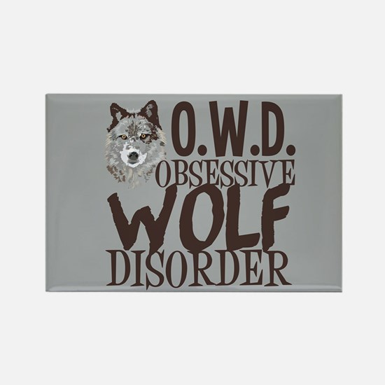 Funny Wolf Rectangle Magnet