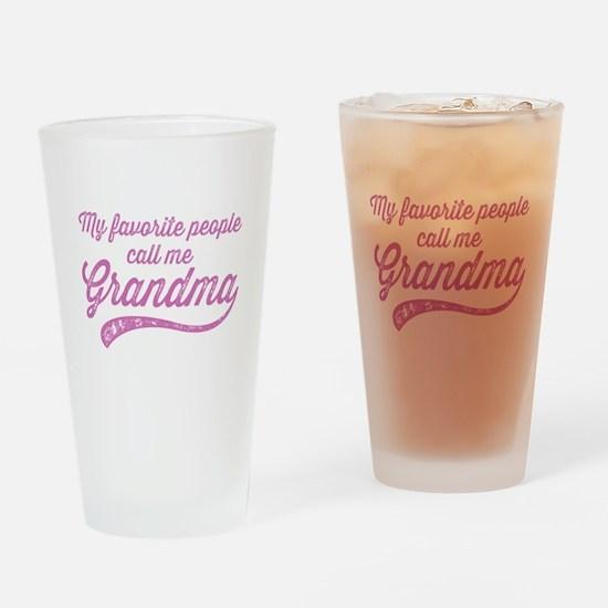 Call Me Grandma Drinking Glass
