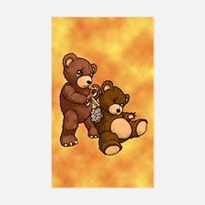 Broken Teddy Rectangle Decal