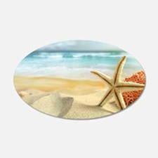 Starfish on Beach Wall Decal