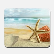 Starfish on Beach Mousepad