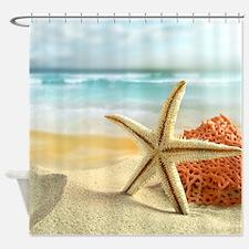 Starfish on Beach Shower Curtain