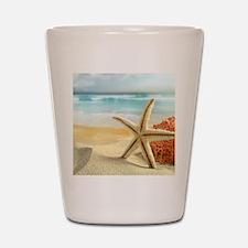 Starfish on Beach Shot Glass