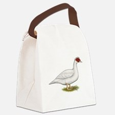 Duck White Muscovy Canvas Lunch Bag