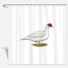 Duck White Muscovy Shower Curtain