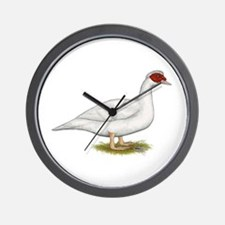 Duck White Muscovy Wall Clock