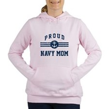 Proud Navy Mom Vintage Women's Hooded Sweatshirt
