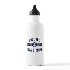 Proud Navy Mom Vintage Water Bottle