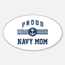 Proud Navy Mom Vintage Decal