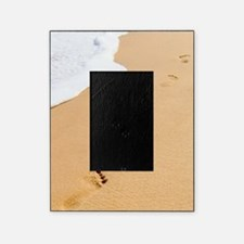 Footprints On Sandy Beach Picture Frame