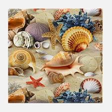 Sea Shells Tile Coaster
